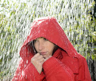 Woman in rain Royalty Free Stock Photo