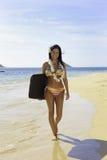 Woman in rainbow bikini Royalty Free Stock Images