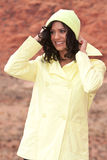 Woman in raincoat Stock Photo