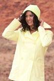 Woman in raincoat Stock Photo