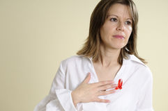 Woman raising funds for aids Stock Photo