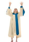 Woman Raising Hands in Praise royalty free stock photography