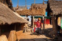 Woman in Ramkot village Royalty Free Stock Photos