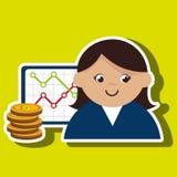 woman rating news money Stock Photos