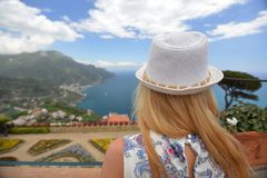 Woman in Southern Italy Stock Images