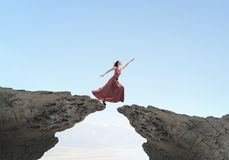 Woman reaching hand Royalty Free Stock Photography