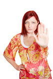 Woman reaching out with hand Royalty Free Stock Images