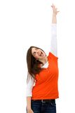 Woman reaching for something Stock Photo