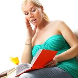 Woman read a book. Stock Image