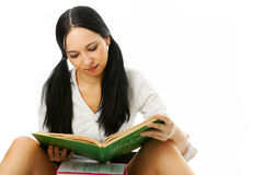Woman read book Stock Photography
