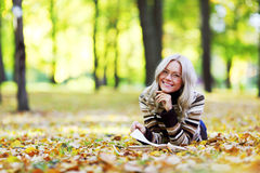 Woman Read In Park Stock Photography