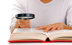 Woman reader. Royalty Free Stock Photography