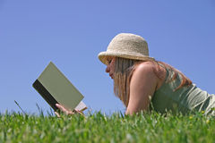 Woman Reading Stock Images