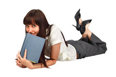 Woman reading. Portrait of a young  woman reading a book Stock Photos