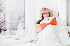 Woman reading Stock Image