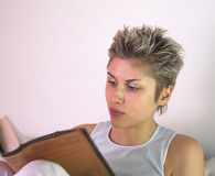 Woman reading Stock Photo