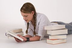 Woman reading. Cute young woman reading a book Royalty Free Stock Photos