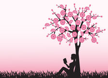 Free Woman Reading A Book Under A Tree Royalty Free Stock Image - 36683126