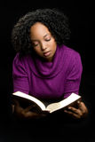 Woman Reading Bible Stock Image