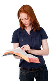 Woman Reading a Bible Stock Images