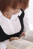 Woman reading Bible royalty free stock photos