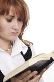 Woman reading Bible Stock Photography