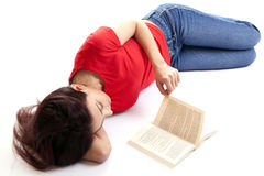 Woman is  Reading Book Stock Image
