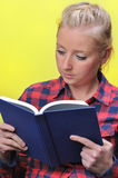 Woman reading book. Royalty Free Stock Photos