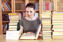 Woman reading the book Stock Image