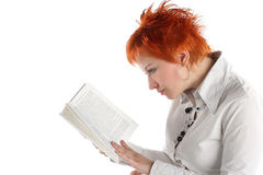 Woman reading book Royalty Free Stock Images