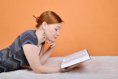 Woman reading the book Stock Photos
