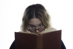 Woman Reading Book - Engrossed Royalty Free Stock Photos