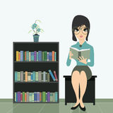 Woman Reading. Royalty Free Stock Photography