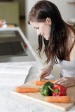 Woman reading cookery book Royalty Free Stock Photo