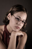 Woman with reading glasses Stock Photography
