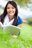 Woman reading at the park Royalty Free Stock Photography