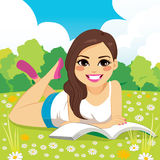 Woman Reading In Park Royalty Free Stock Images