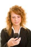 Woman Reading SMS Stock Photos