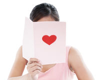 Woman Reading Valentine Card Royalty Free Stock Photo