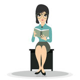 Woman Reading. Stock Images