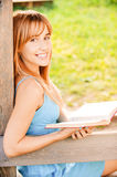 Woman reads book Royalty Free Stock Photos