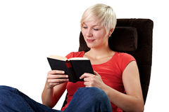 Woman reads a good story Stock Images