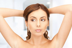 Woman ready for cosmetic surgery Royalty Free Stock Photography