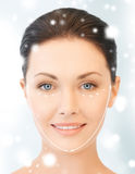 Woman ready for cosmetic surgery Stock Photography