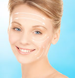 Woman ready for cosmetic surgery Royalty Free Stock Images