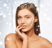 Woman ready for cosmetic surgery Stock Images