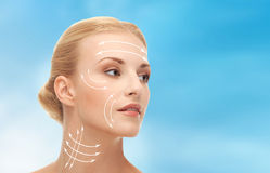 Woman ready for cosmetic surgery Royalty Free Stock Photo