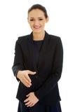 Woman ready for handshake. Stock Photos