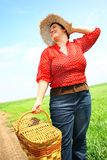 Woman ready for picnic Stock Photos