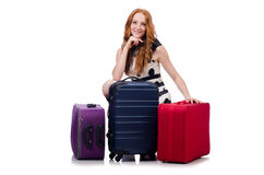 Woman ready for summer holiday Royalty Free Stock Photography